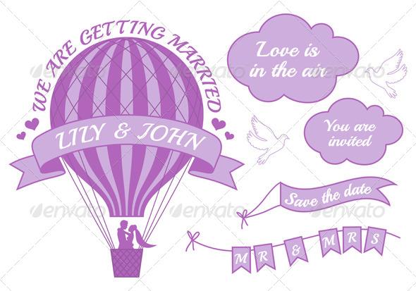 Hot Air Balloon Wedding Invitation - Weddings Seasons/Holidays