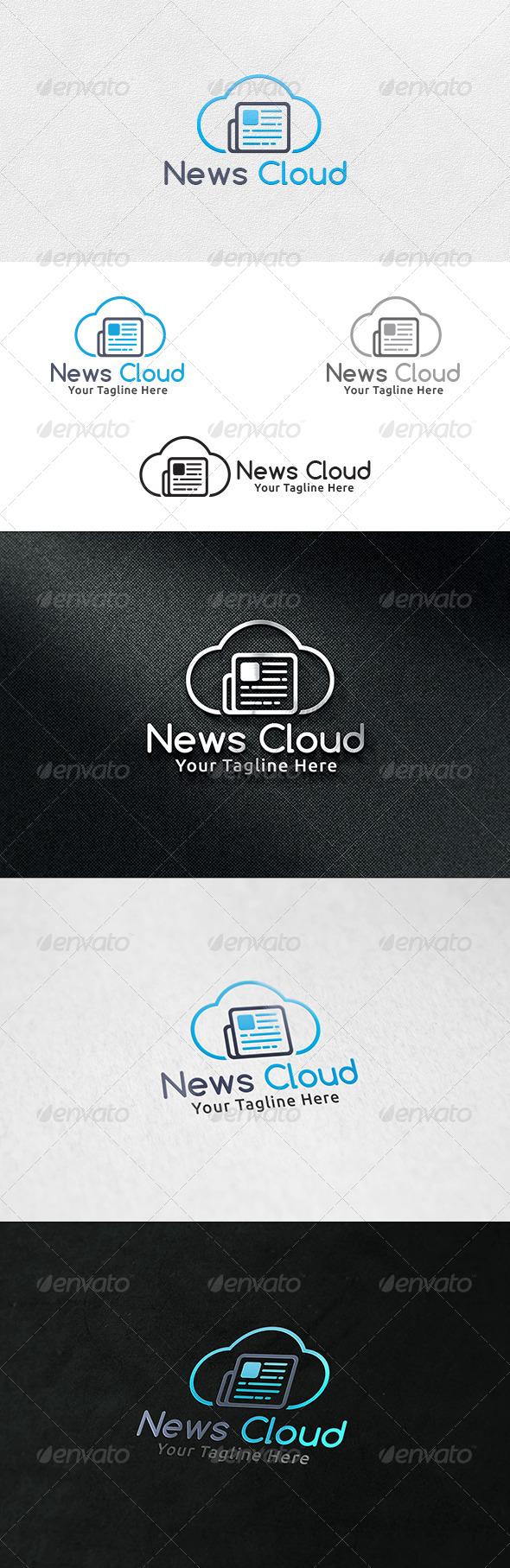 News Cloud - Logo Template - Symbols Logo Templates