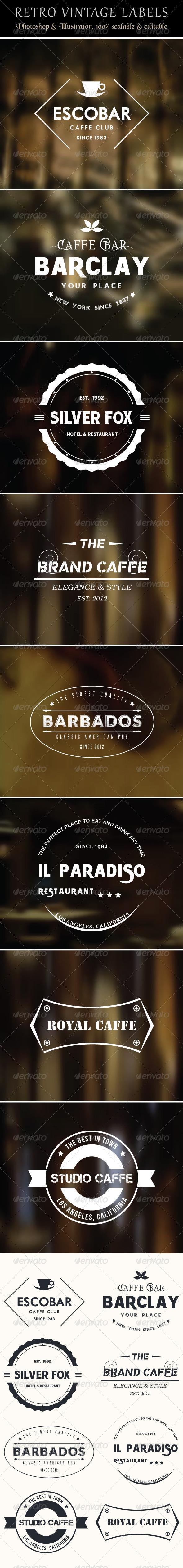 Retro Vintage Labels - Badges & Stickers Web Elements