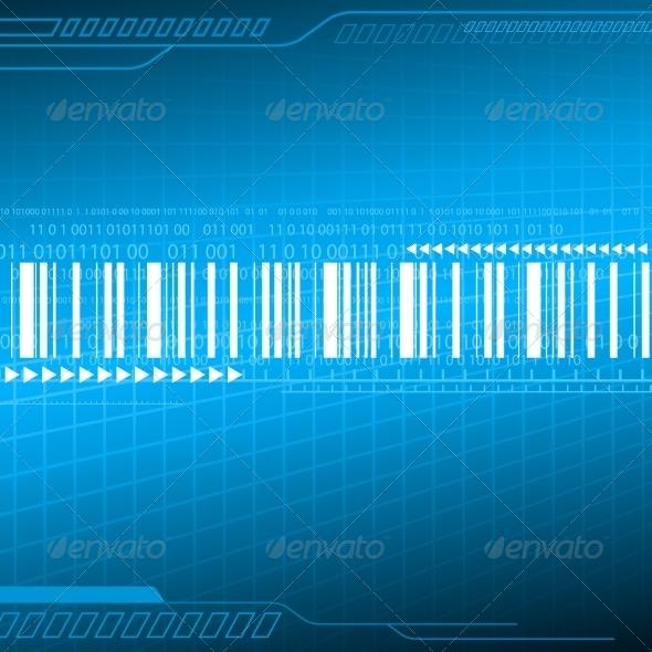 Digital Blue Background - Backgrounds Decorative
