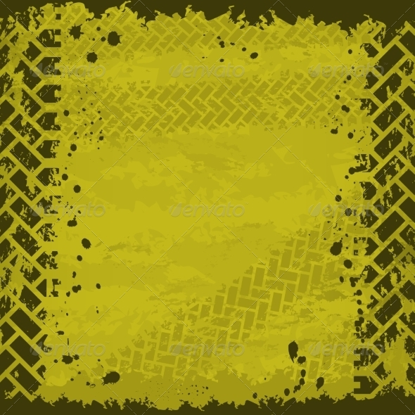 Yellow Tire Track Background - Backgrounds Decorative