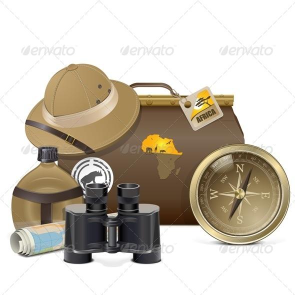 Safari Accessories Concept - Travel Conceptual