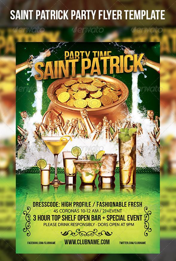 Saint Patrick Party Flyer Template - Events Flyers