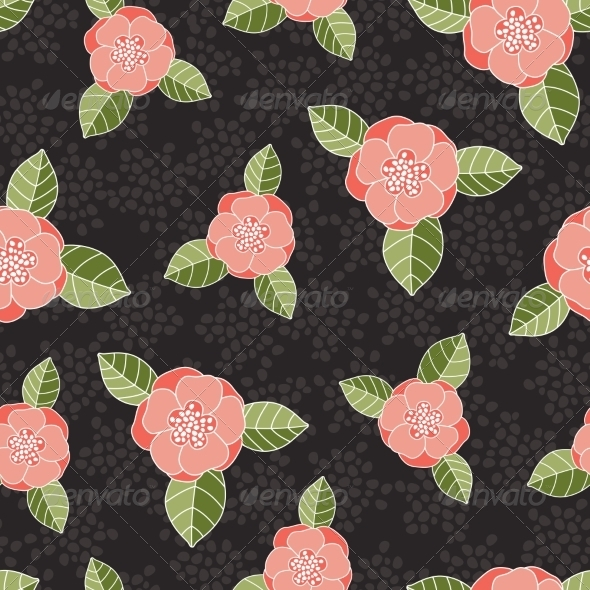 Seamless Rose Pattern - Flowers & Plants Nature