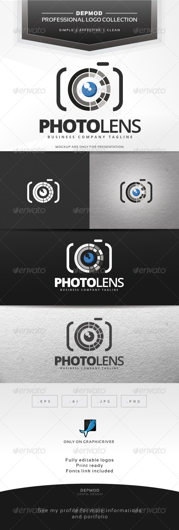 Photo Lens Logo - Symbols Logo Templates