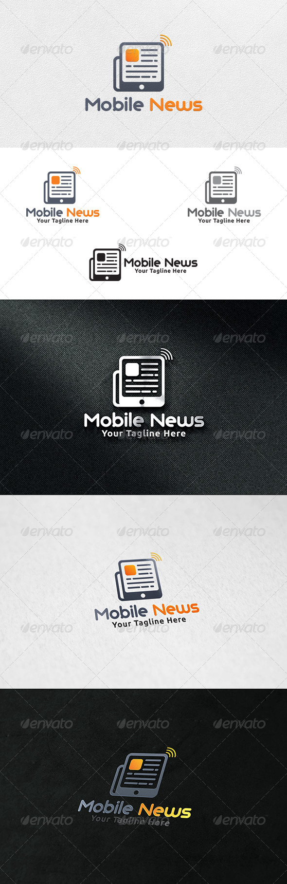 Mobile News V2 - Logo Template - Objects Logo Templates