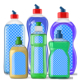 6 Dish Soap Bottles Mock-Up - GraphicRiver Item for Sale