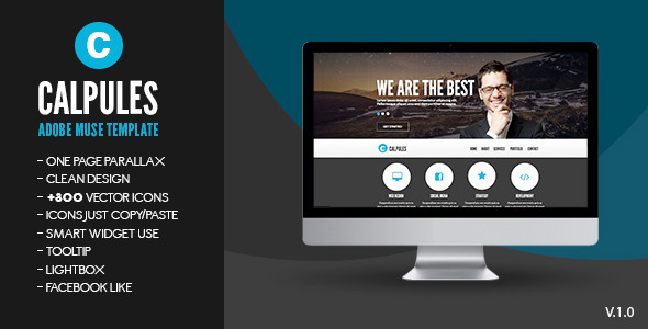 Calpules | Adobe Muse Template - Corporate Muse Templates