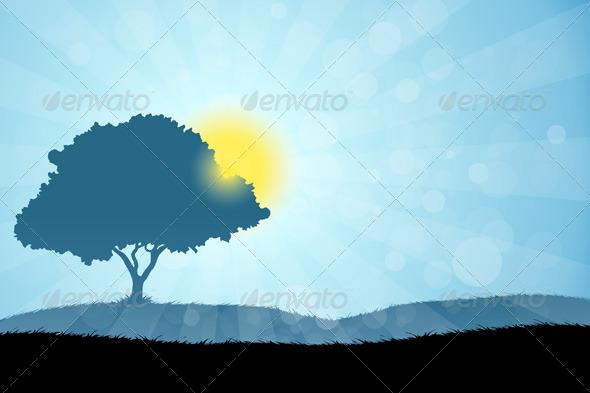 Landscape with Tree - Landscapes Nature