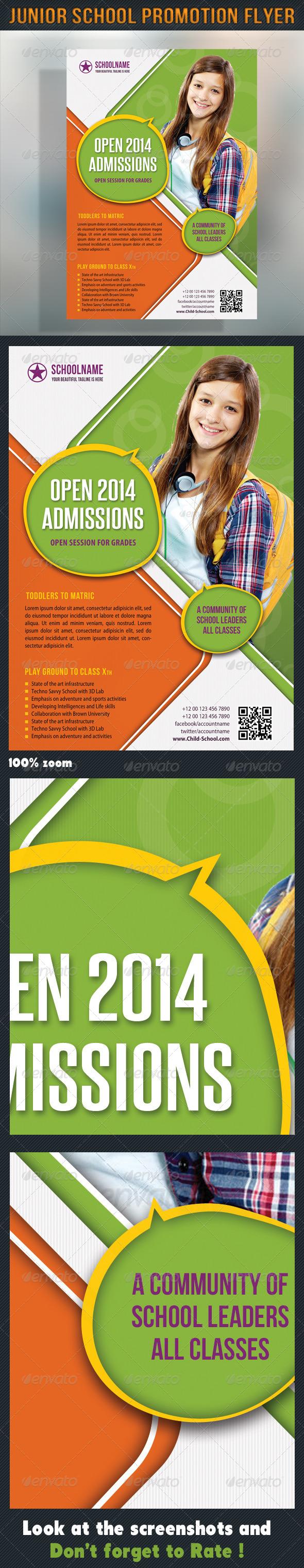 Junior School Promotion Flyer 04 - Events Flyers