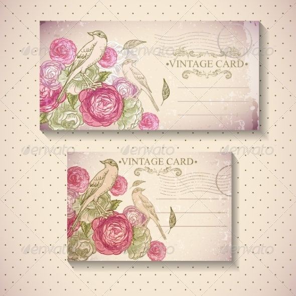 Floral Vintage Card  - Patterns Decorative