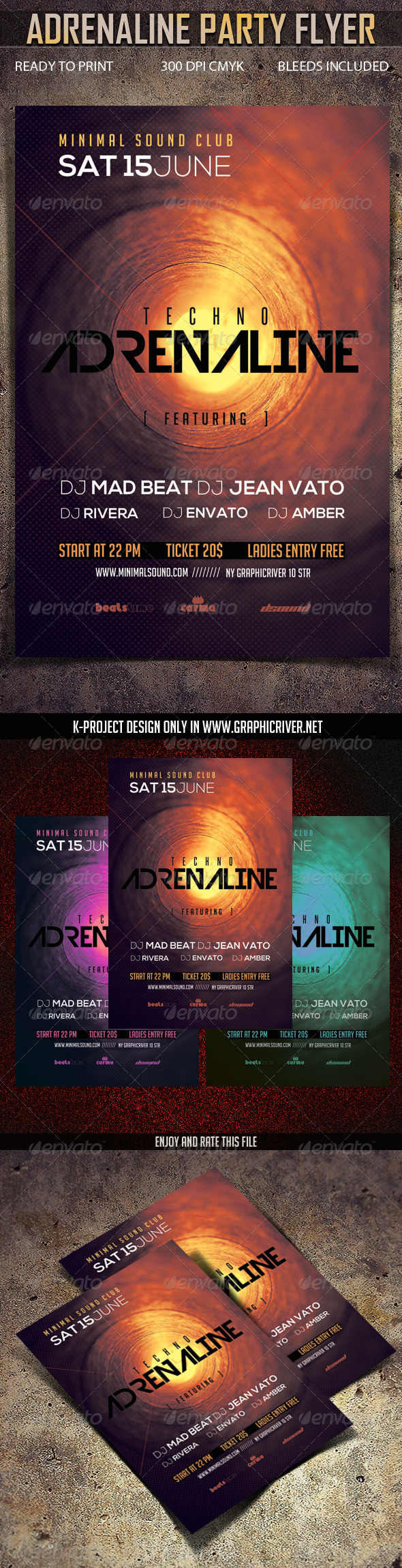 Adrenaline Party Flyer - Clubs & Parties Events
