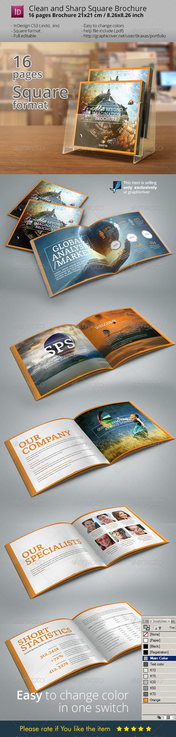 Indesign Brochure Square Design - Informational Brochures