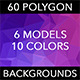 60 Polygon Backgrounds - Mixed Colors Vol. 1 - GraphicRiver Item for Sale
