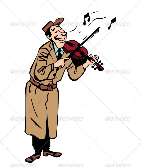 Violinist - Characters Vectors
