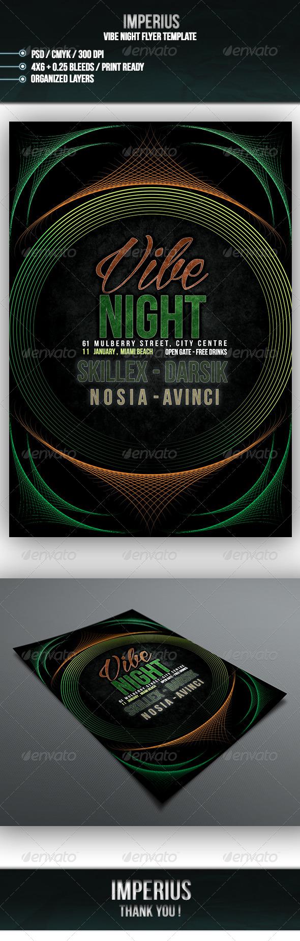 Vibe Night Flyer - Flyers Print Templates