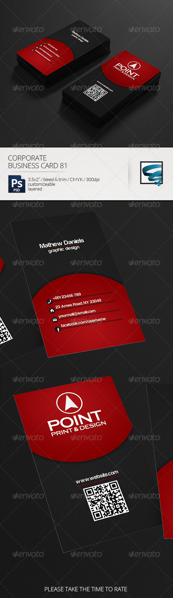 Corporate Business Card 81 - Business Cards Print Templates