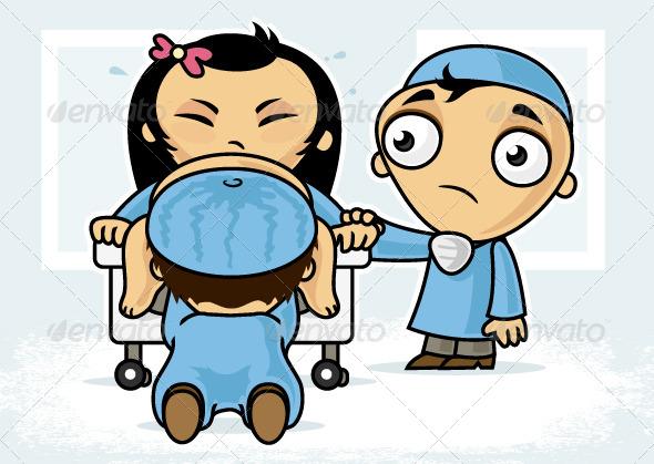 Child Delivery - Health/Medicine Conceptual