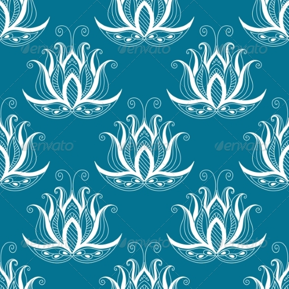 Vintage Floral Repeat Seamless Pattern - Patterns Decorative