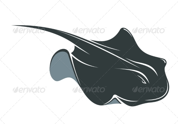 Swimming Manta Ray - Animals Characters