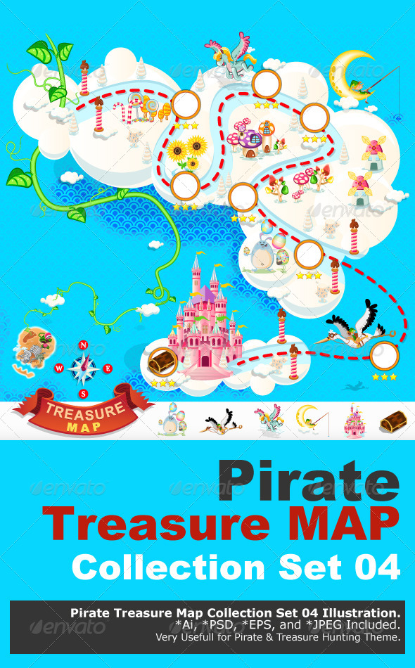 Pirate Treasure Map – Sky Castle - Miscellaneous Characters