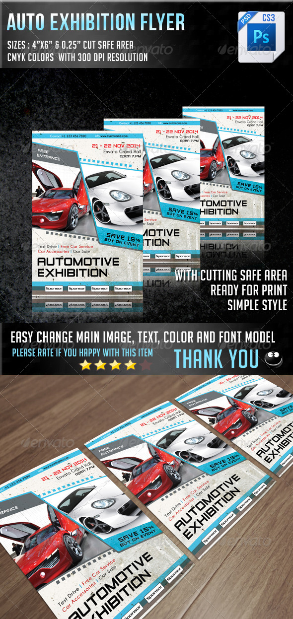 Auto Exhibition Flyer V7 - Events Flyers