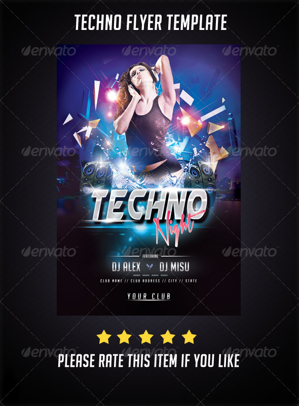 Techno Night Flyer - Events Flyers