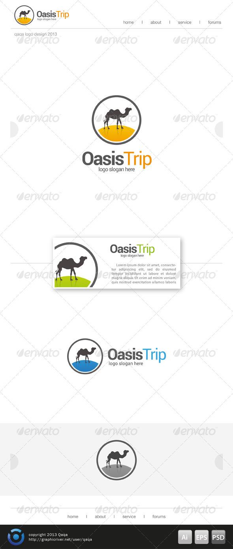 Oasis Trip Logo Template - Logo Templates