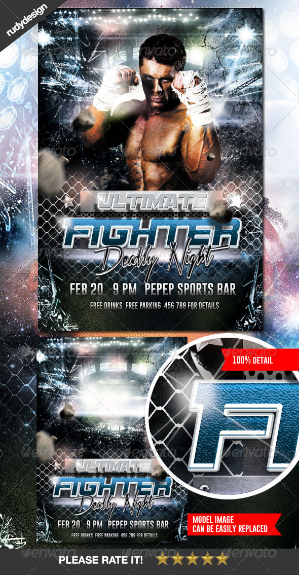 Ultimate Fighting Flyer Design - Sports Events