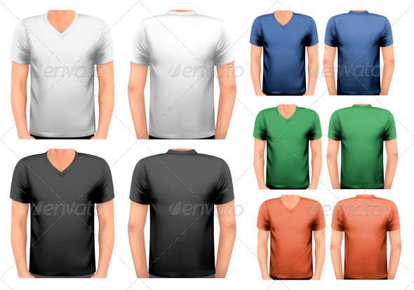 Black and White and Color Men T-Shirts - Commercial / Shopping Conceptual