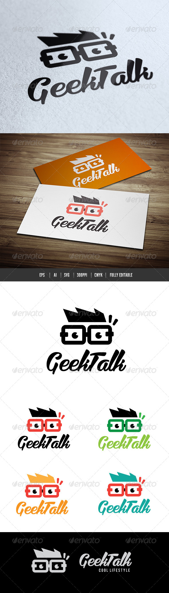 Geek Talk - Humans Logo Templates