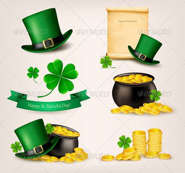 Set of St Patricks Day Related Icons - Miscellaneous Seasons/Holidays
