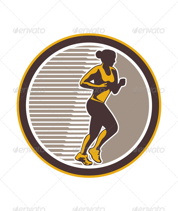 Female Marathon Runner Side View - Sports/Activity Conceptual