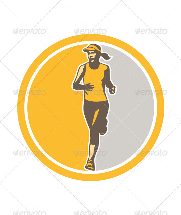 Female Triathlete Marathon Runner - Sports/Activity Conceptual