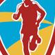 Marathon Runner Shield Retro - GraphicRiver Item for Sale