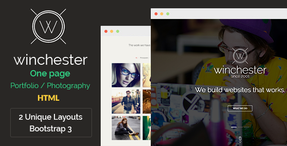 Winchester HTML Parallax One-Page Template