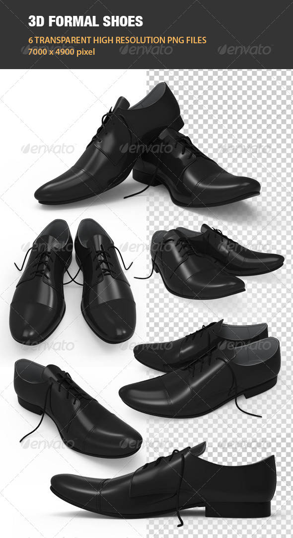 3D Formal Shoes - Objects 3D Renders