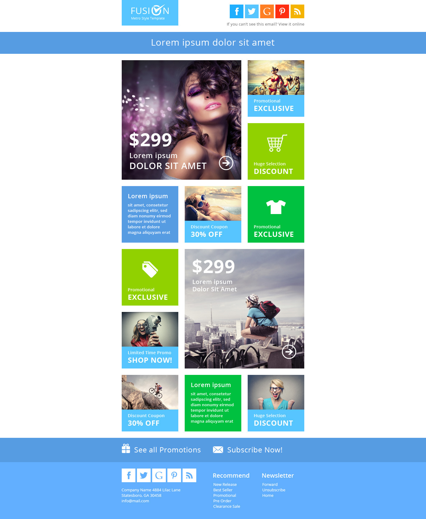 Fusion Metro Email Newsletter Template By Pophonic ThemeForest - Email brochure template