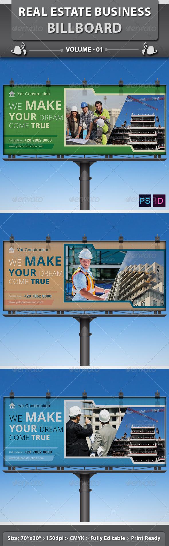 Real Estate Business Billboard | Volume 1 - Signage Print Templates