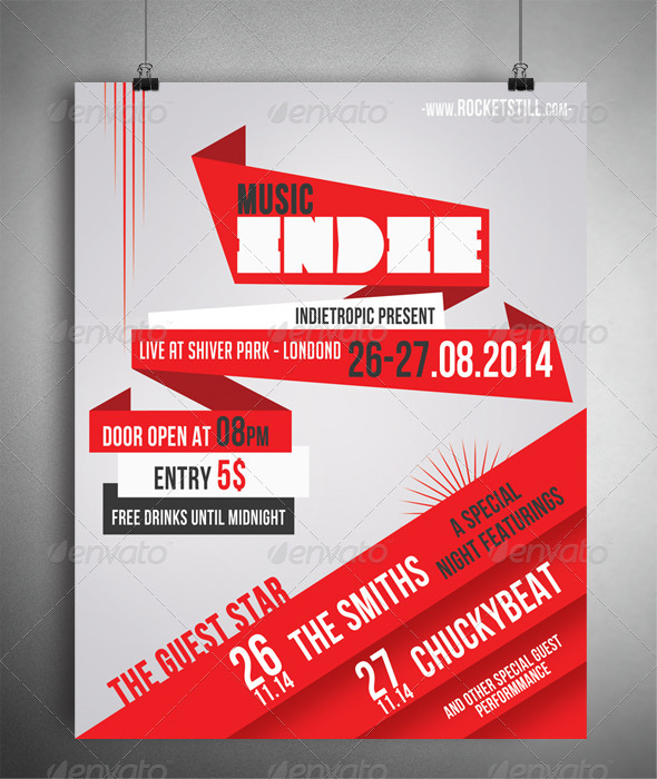 INDIERED - FLYER TEMPLATE - Concerts Events