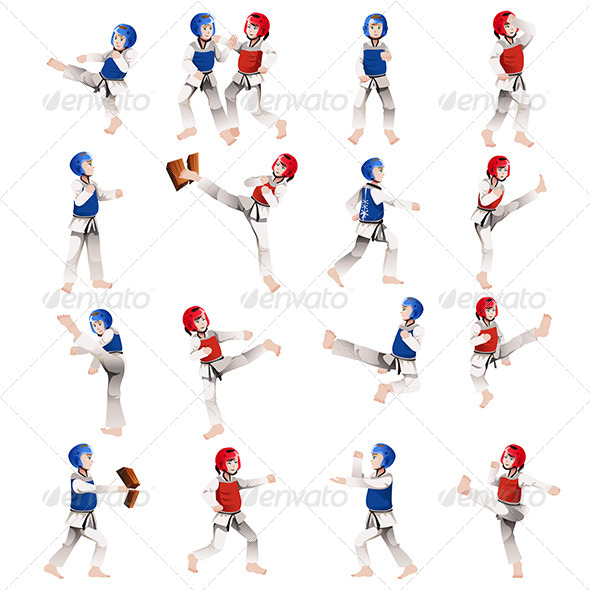 Boy and Girl in Taekwondo Outfit - Sports/Activity Conceptual