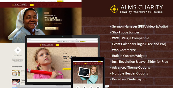 Alms – Church & NGO Responsive WordPress Theme