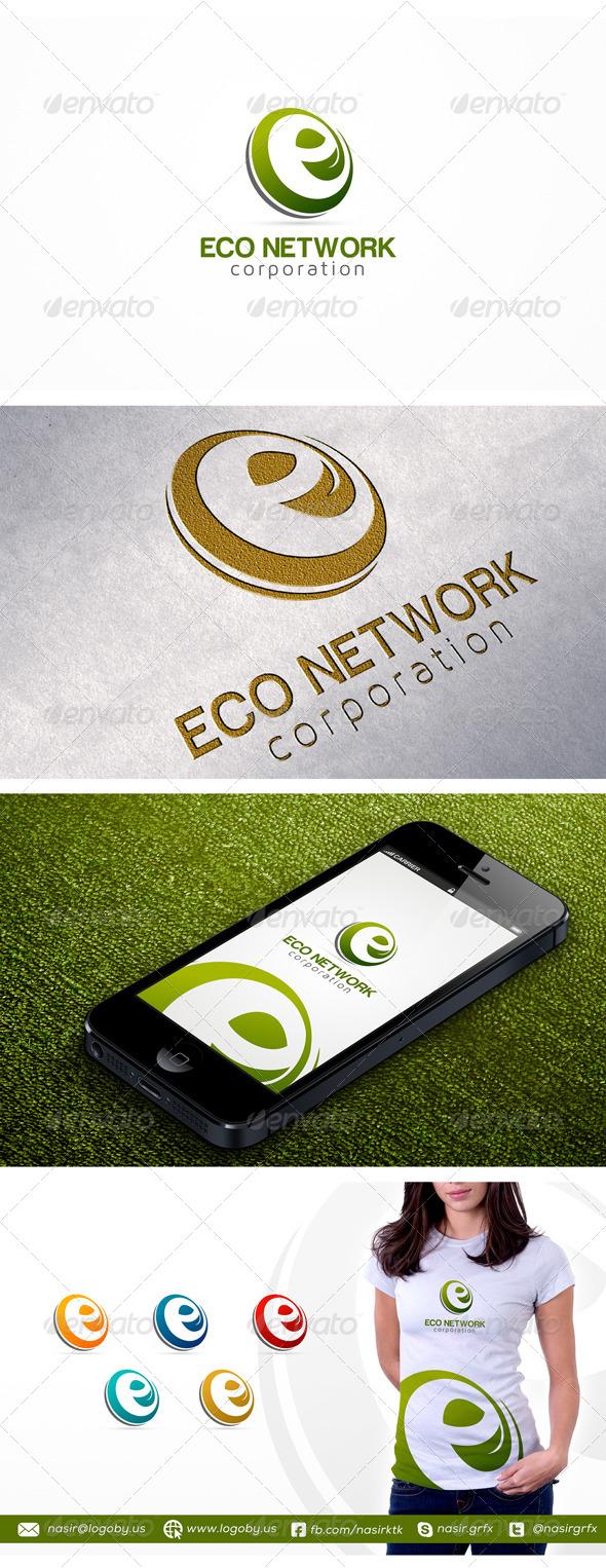E Leaf Logo - Letters Logo Templates
