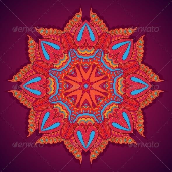 Round Floral Ornament - Patterns Decorative