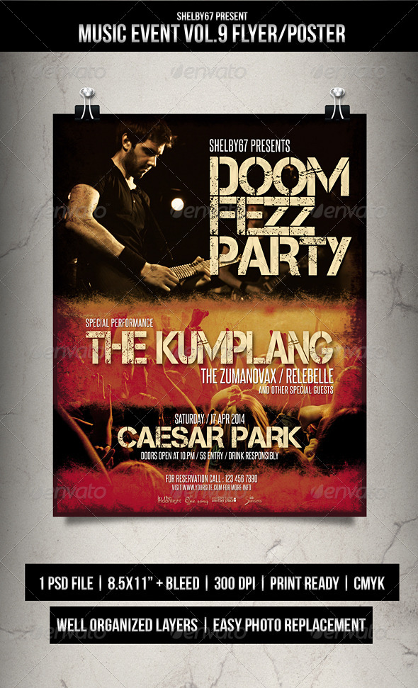 Music Event Flyer / Poster Vol.9 - Events Flyers