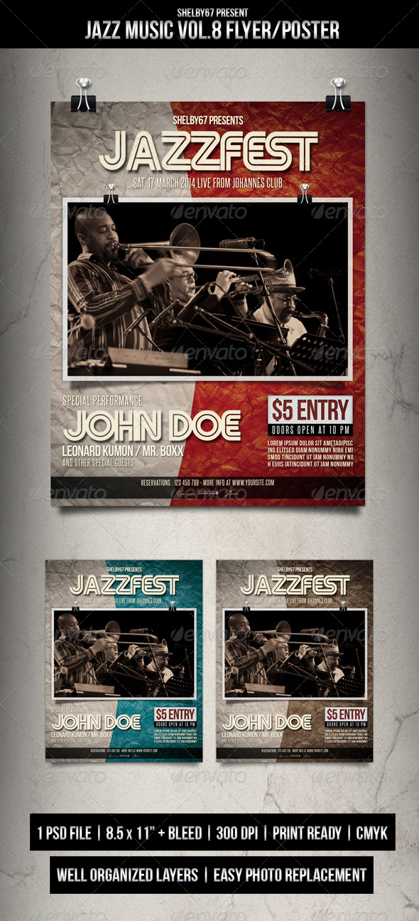 Jazz Music Flyer / Poster Vol.8 - Events Flyers