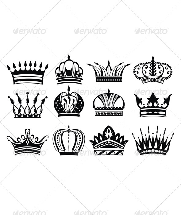 Crowns - Decorative Symbols Decorative