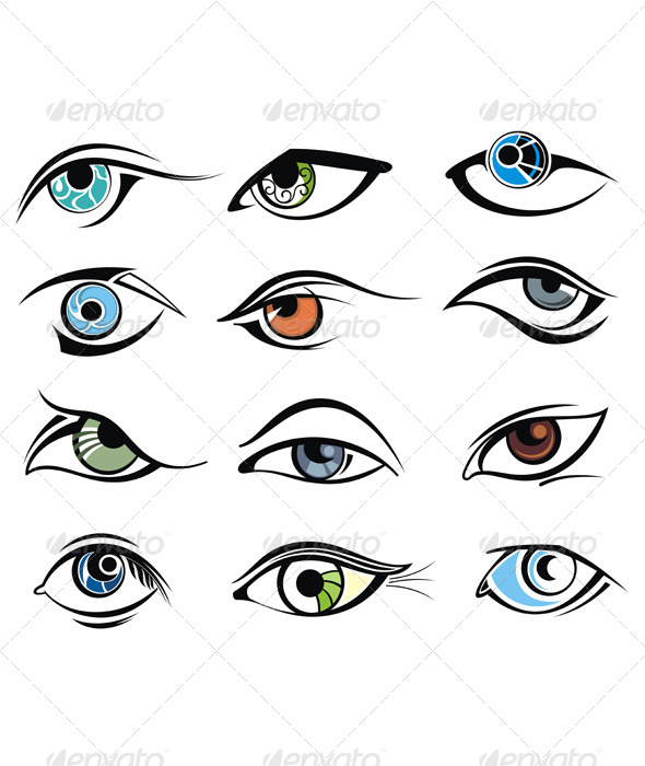 Eye Designs - People Characters