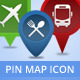 Pin Map Location Cartography Symbol - GraphicRiver Item for Sale