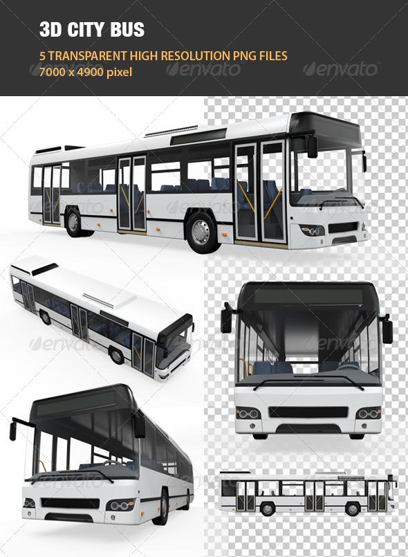 3D City Bus - Objects 3D Renders